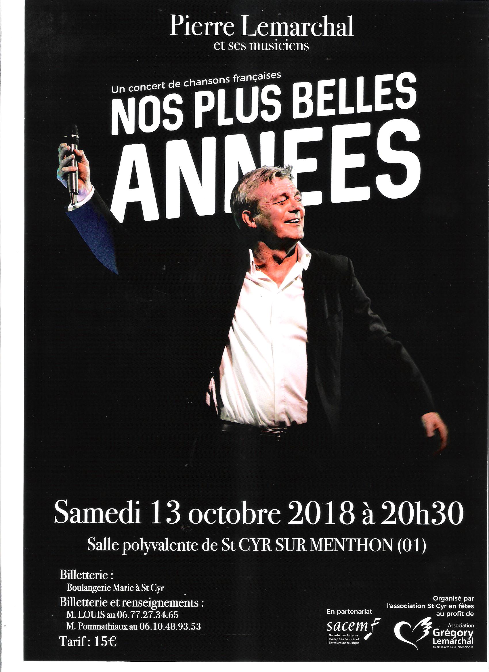 Affiche Concert affiche concert st cyr en fêtes 13 octobre | mairie de saint-cyr-sur