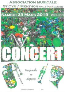 affiche concert de printemps du 23 mars 2019